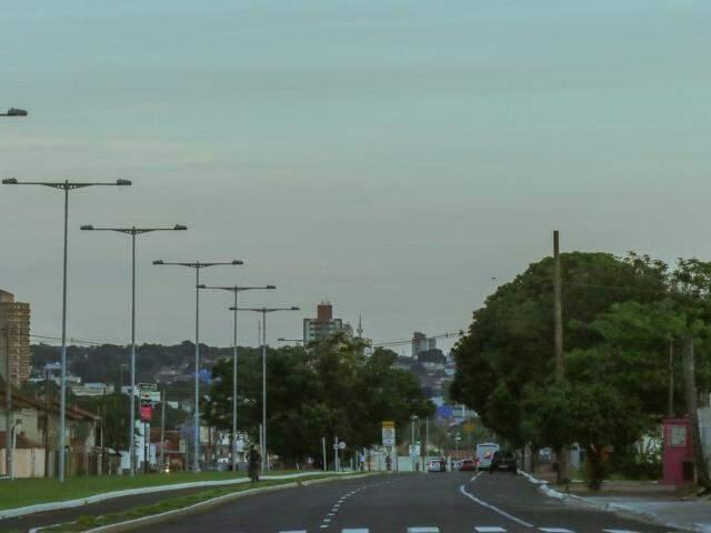 Via Morena no início da manhã desta terça-feira (19). (Foto: Henrique Kawaminami)