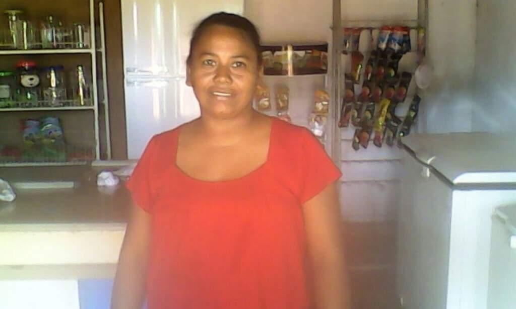 Essa é Maria Inez que vive na aldeia Alagoinha, em Sidrolândia.