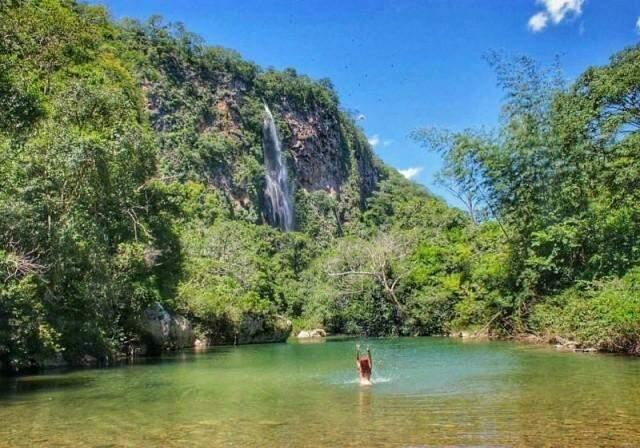 Cenário da cachoeira Boca da Onça em dias normais. (Foto: Divulgação)