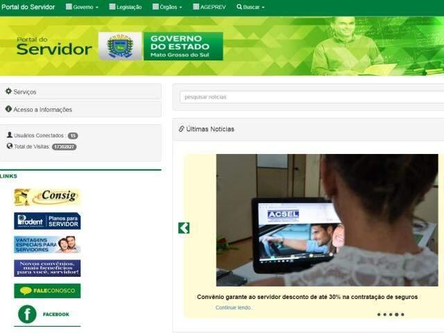 Adesão deve ser feita por meio do Portal do Servidor (Foto: Reprodução)