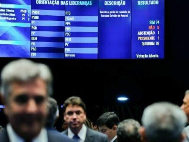 Ex-senador foi cassado com 74 votos de colegas; Delcídio contesta trâmites do processo. (Foto: Moreira Muniz/Agência Senado/Arquivo)