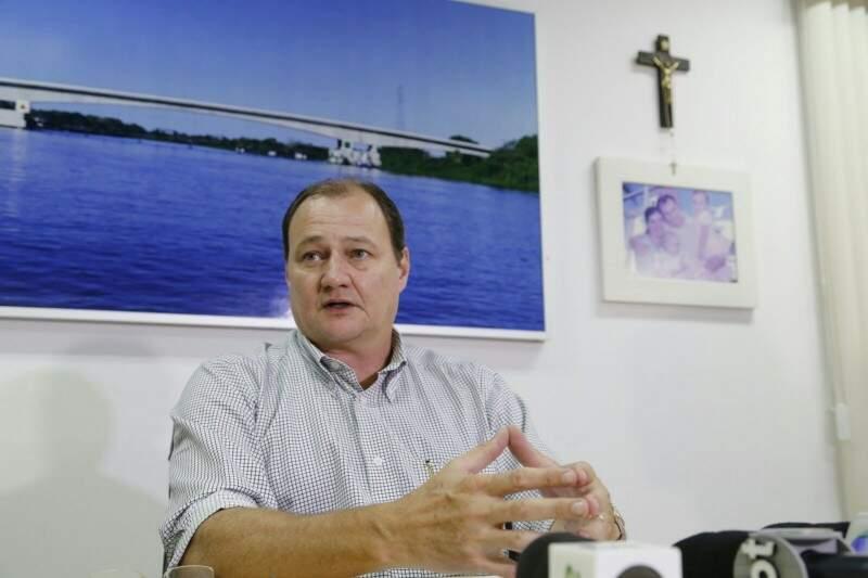 Secretário estadual de Infraestrutura, Marcelo Miglioli, garante que está otimista sobre conclusão da obra até 2018 (Foto: Marcos Ermínio)