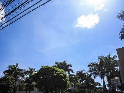 Inmet prevê calor à tarde e tempo seco nos próximos dias em MS
