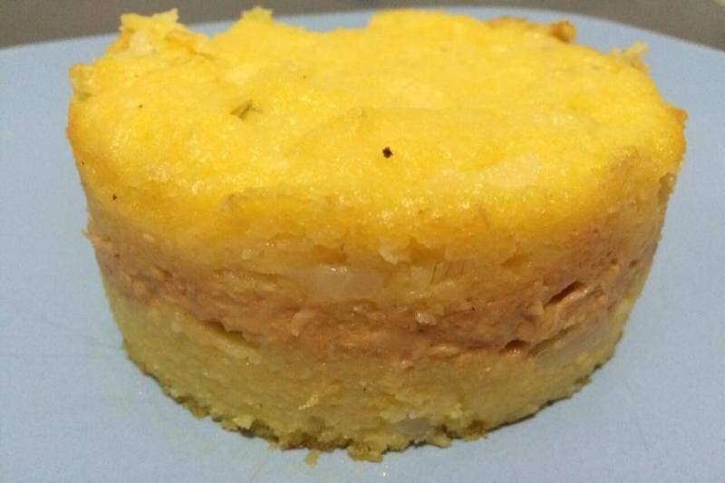 Sopa paraguaia ganhou recheio e virou 'tortaguaia' no Food Park.