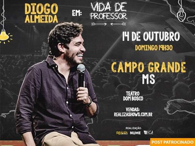 Ex-coordenador pedagógico, perrengues na rotina da escola viraram comédia para Diogo Almeida. (Foto: divulgação)