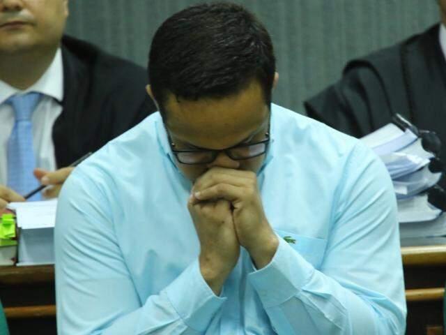 Cristhiano Luna de Almeida em julgamento no ano passado (Foto: André Bittar/ Arquivo Campo Grande News)