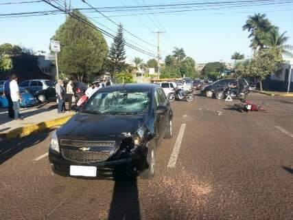 Acidente é causado pela falta de sinalização em ruas movimentadas