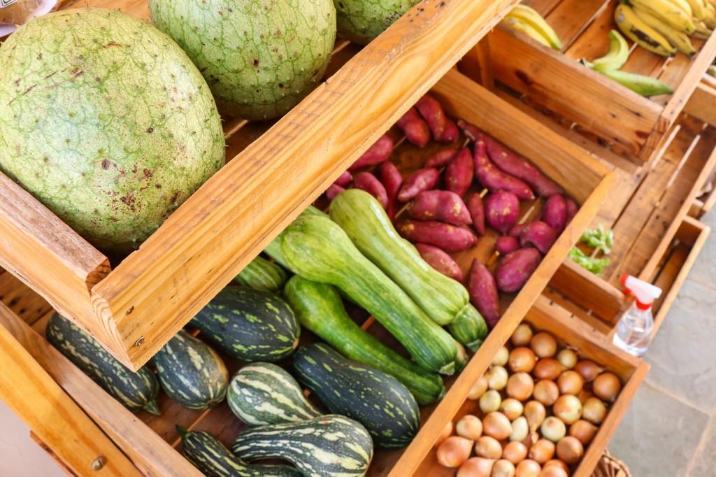 Abobrinha, batata doce, cebola também podem ser encontrados em pontos de vendas (Foto: Henrique Kawaminami)