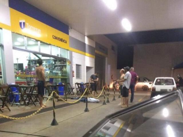 O caso aconteceu em conveniência de posto de combustíveis no Paraná (Foto: Divulgação)