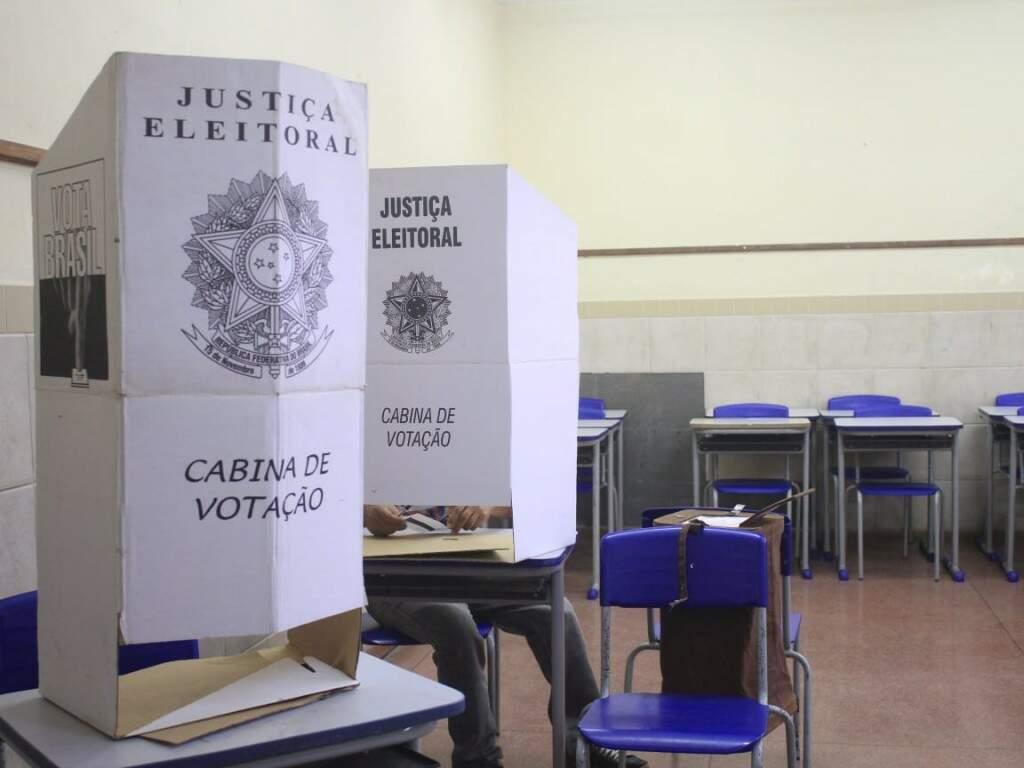 Cabine de votação para conselheiros (Foto: Marina Pacheco)