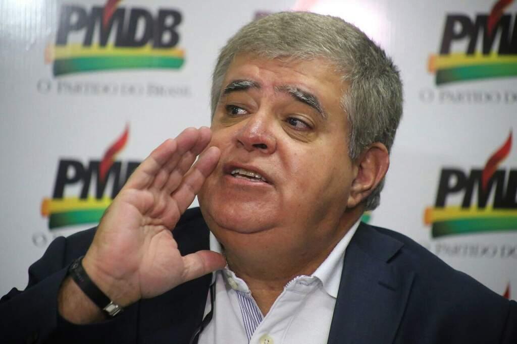 Ministro Carlos Marun, durante entrevista na sede do PMDB (Foto: Marcos Ermínio)