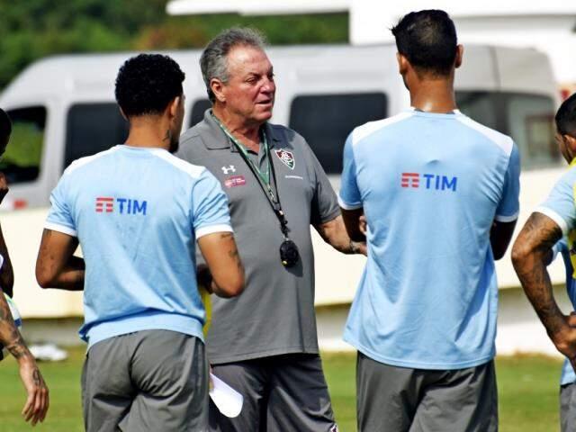Abel Braga comanda treino do Tricolor antes de duelo com Botafogo (Foto: Mailson Santana Fluminense FC)