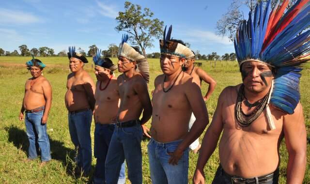 Terena afirmam que retomada é questão de sobrevivência, trabalhos para plantio já começaram. (Fotos: João Garrigó)