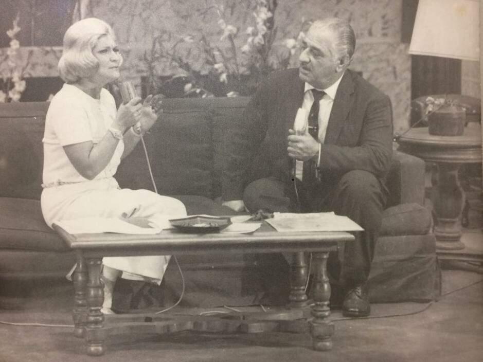 José, em São Paulo, quando foi entrevistado por Hebe Camargo. (Foto: Arquivo Pessoal)