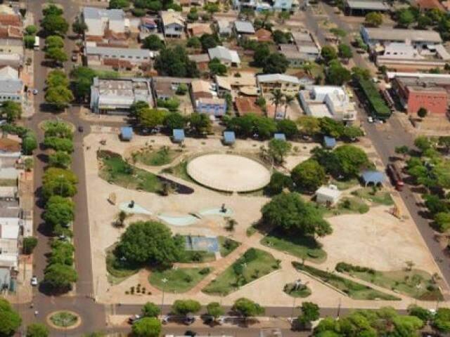 Vista aérea de Caarapó; município terá eleição suplementar para prefeito neste domingo. (Foto: Caarapó News)