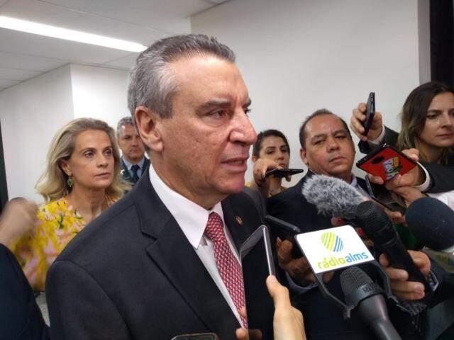 Deputado Paulo Corrêa (PSDB) durante entrevista coletiva (Foto: Leonardo Rocha)