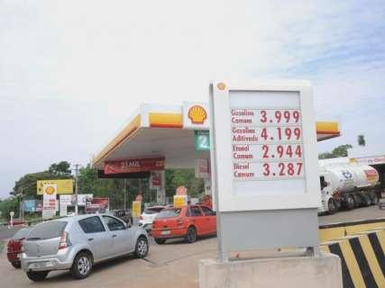 Preço da gasolina acumula queda de 3% e MS é 4º combustível mais barato
