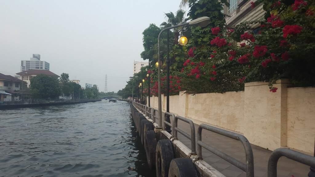 Bagkok é conhecida como a Veneza do Oriente pelos seus canais. (Foto: Arquivo Pessoal)