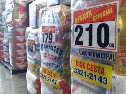 Pelo 3º mês, cesta básica tem baixa com queda nos preços de 4 alimentos