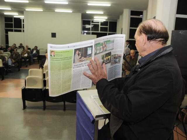 """""""Estão utilizando dinheiro dos associados para fazer campanha eleitoral mentirosa"""", disse Laucídio. (Foto: Divulgação)"""