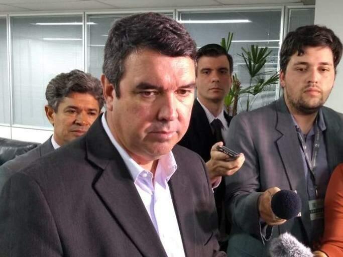 Secretário de Estado de Governo, Eduardo Riedel, em entrevista (Foto: Leonardo Rocha)