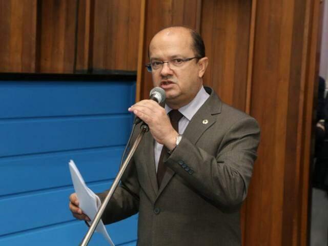Líder do governo, deputado José Carlos Barbosa, durante sessão (Foto: Assessoria/ALMS)