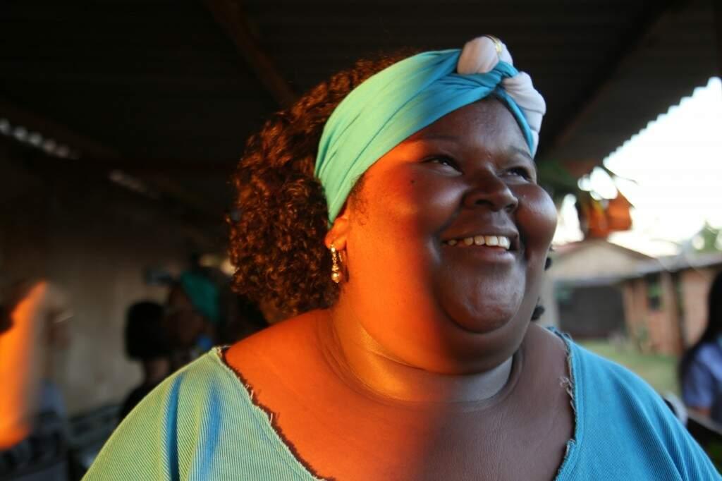 Janaina Medina Domingos, de 35 anos, usou turbante pela primeira vez. (Foto: Danielle Valentim)