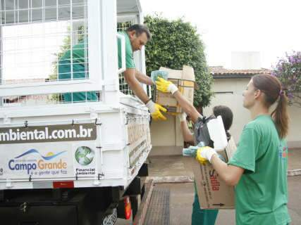 Prefeitura de Campo Grande inicia coleta seletiva do lixo