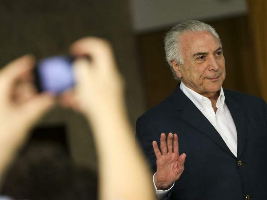 Presidente Michel Temer no dia que anunciou a redução no preço do óleo diesel (Foto: Marcelo Camargo/Ag Brasil)