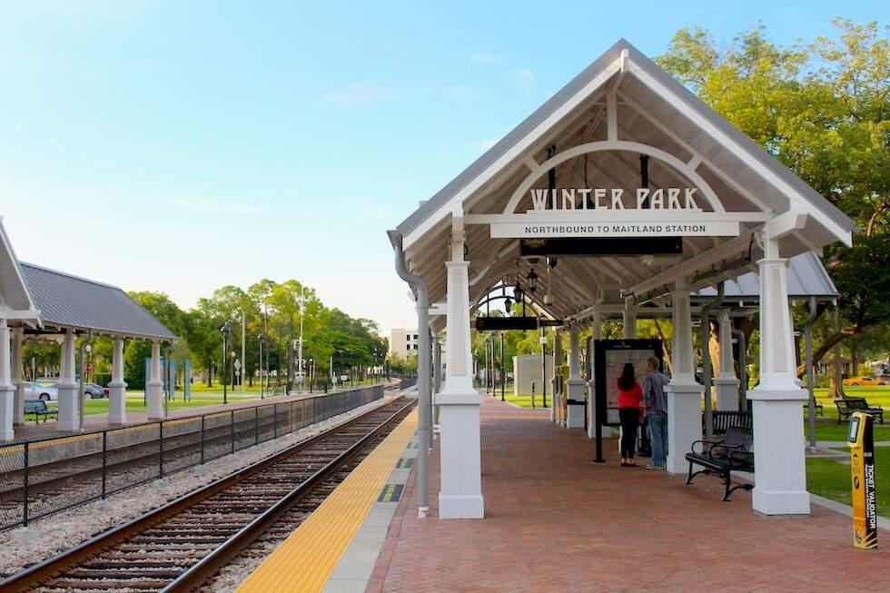 Estação de trem em Winter Park, vale a pena uma passada mesmo que só para conhecer o lugar