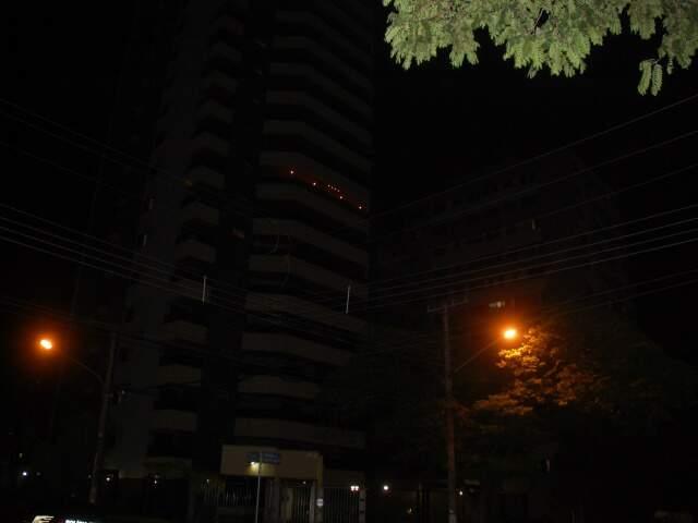 Ruas de Campo Grande durante a edição do Hora do Planeta de 2010 (Foto: João Garrigó)