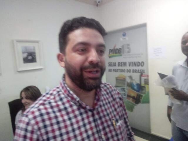 Ulisses Rocha, presidente municipal do MDB em Campo Grande (Foto: Leonardo Rocha)