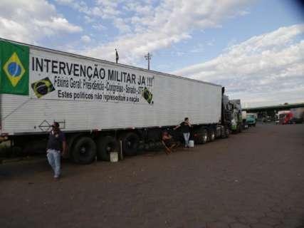 Mesmo com liberação, caminhoneiros não rodam e protestos vão continuar em MS