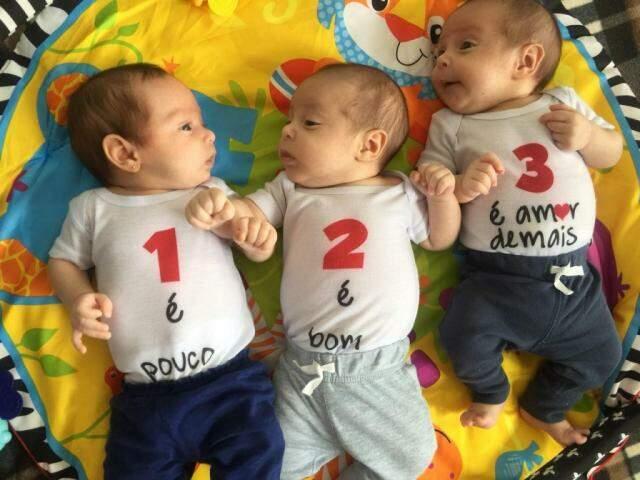 Mãe de trigêmeos, a escolha não foi nada fácil, mas foi a alternativa encontrada por ela para dar um pouco mais de atenção aos filhos.