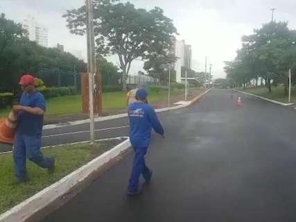 Após 4 dias de interdição, trecho da avenida Mato Grosso é liberado
