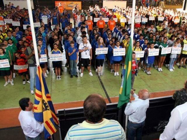 Abertura da Edição 2015 dos Jogos Escolares de Campo Grande. (Foto: Divulgação/Funesp)