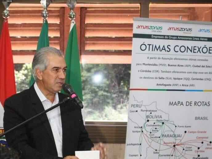 Reinaldo prevê custos até 40% menores em conexões a partir de Assunção. (Fotos: Paulo Francis)