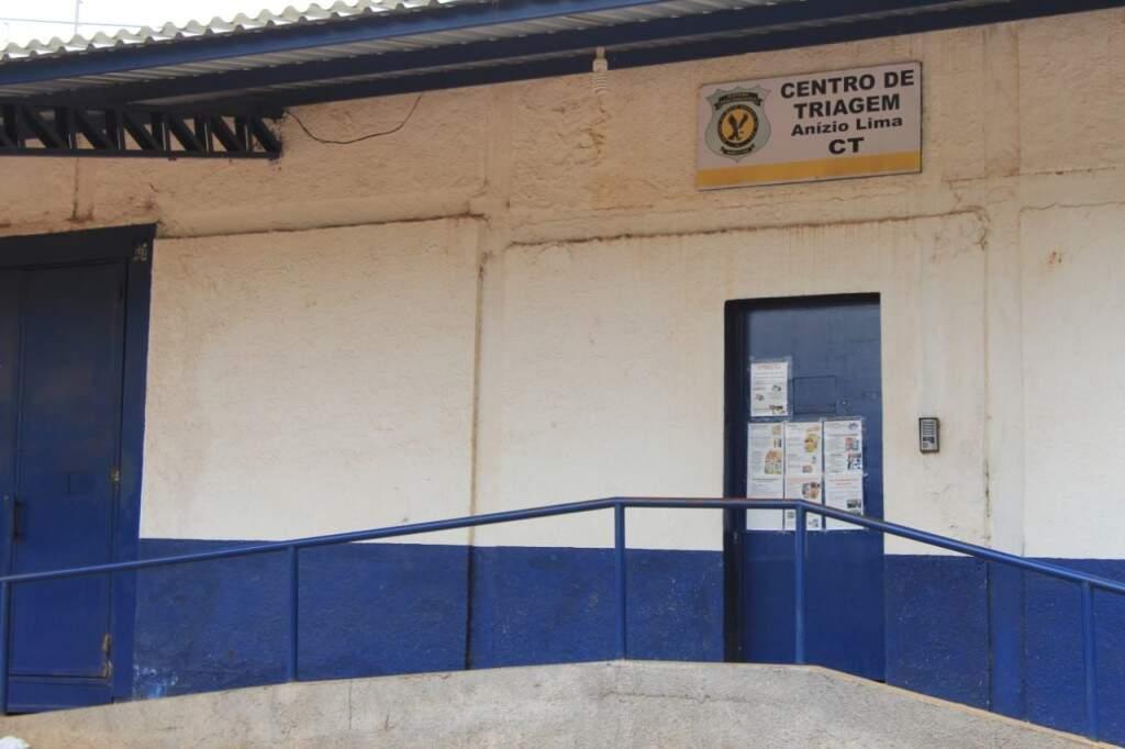 Entrada do Centro de Triagem, onde o ex-governador André Puccinelli está preso desde 20 de julho.