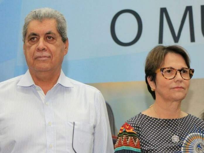 André Puccinelli (MDB) ao lado de Tereza Cristina (Foto: Marina Pacheco)