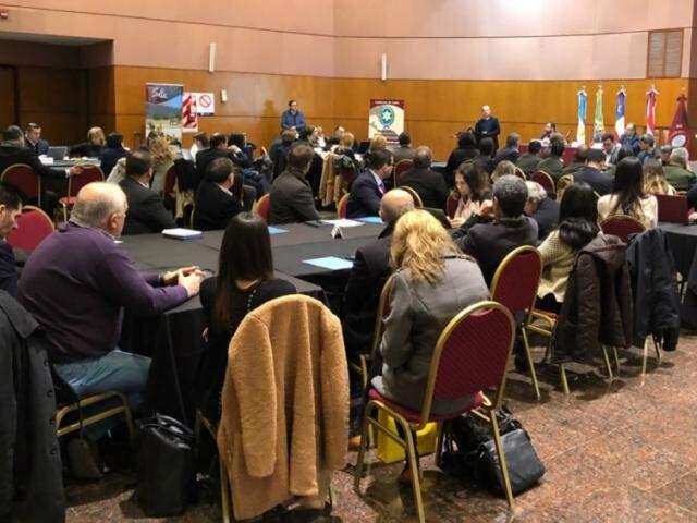 Representantes de Brasil, Paraguai, Argentina e Chile estão reunidos em Salta (Foto: Divulgação)