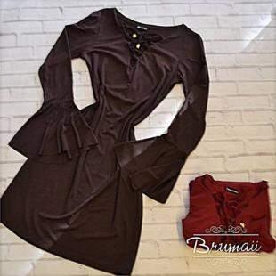 Vestido com manga flare R$ 49,90 - Foto Divulgação