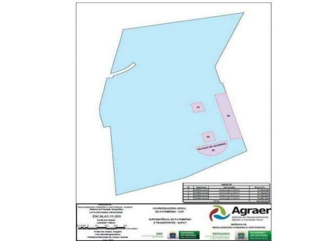 Lei aprovada em 2018 reservou áreas para uso do Estado (foto), mas decreto legislativo prevendo criação do Complexo dos Poderes trava desmatamento. (Imagem: Reprodução)