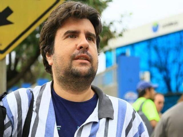 O candidato Celso Armando Issa Junior veio de Andradina para fazer a prova. (Foto: Marcos Ermínio).