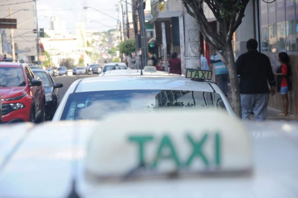 Taxistas sentiram diminuição nas corridas com a greve (Paulo Francis)