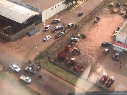 Policiamento também é acompanhado do alto. (Foto: Divulgação)