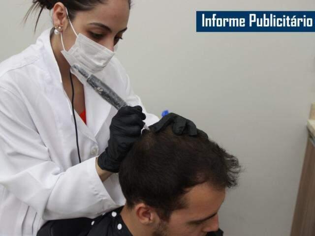 Micropigmentação de calvície. (Foto: Fernando Antunes)