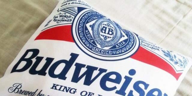 Almofada em homenagem à cerveja, por R$ 60,00