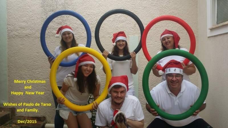 Ano passado, a inspiração veio das Olimpíadas, para desejar um feliz natal. (Foto: Arquivo Pessoal)