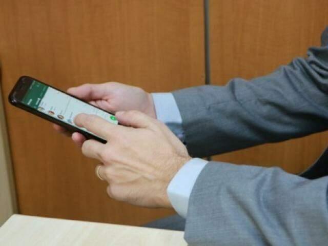 Aplicativo de mensagens será utilizada como ferramenta do Judiciário (Foto: TJMS/Divulgação)