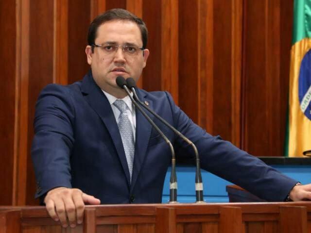Deputado Márcio Fernandes (MDB), durante sessão na Assembleia (Foto: Assessoria/ALMS)